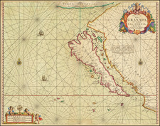 Southwest, North America, Baja California, Pacific and California Map By Johannes van Loon