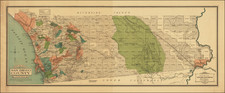 California and San Diego Map By E. E.  Knight