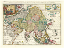 Asia Map By Pieter van der Aa
