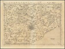 Territorio Di Roma By Girolamo Ruscelli