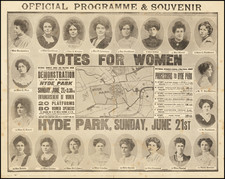 London and Curiosities Map By Women's Social and Political Union