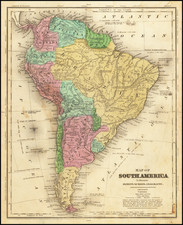 South America Map By Jesse Olney