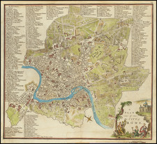 Rome Map By John Stockdale