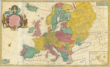 To Her most Sacred Majesty Ann Queen of Great Britain, France & Ireland.  This Map of Europe Europe According to the Most Exact Observations is Humbly Dedicated . . . 1708 By Herman Moll