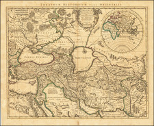 Russia, Greece, Turkey, Mediterranean, India, Central Asia & Caucasus, Middle East, Holy Land and Turkey & Asia Minor Map By Johannes Covens - Pieter Mortier