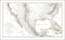 Texas, Plains, Southwest, Rocky Mountains, Mexico and California Map By Alexander Von Humboldt