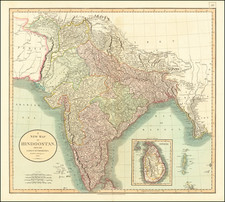 India Map By John Cary