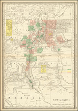 New Mexico Map By William Rand / Andrew McNally