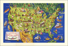 United States and Pictorial Maps Map By John Dukes McKee