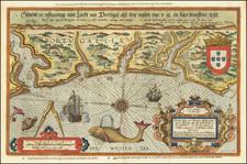 Die Zee Caerte van Portugal, tusschen Camino en Montego, alsoe dat landt all daer in Syin ghedaente . . .   By Lucas Janszoon Waghenaer