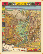 Pictorial Maps and Yosemite Map By Jo Mora