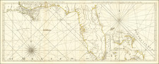 Florida, South, Louisiana, Alabama, Mississippi and Bahamas Map By Thomas Jefferys