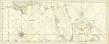 Florida, South, Louisiana, Alabama, Mississippi and Bahamas Map By Thomas Jefferys
