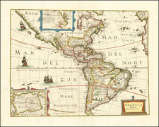 America Map By Pierre Mariette