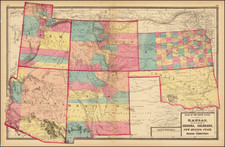 Kansas, Oklahoma & Indian Territory, Arizona, Colorado, Utah, New Mexico, Colorado and Utah Map By H.H. Lloyd