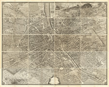 France and Paris Map By Michel-Étienne Turgot  &  Louis Bretez