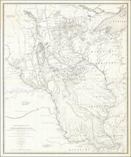 Midwest, Illinois, Michigan, Minnesota, Wisconsin, Plains, Iowa, Missouri, North Dakota and South Dakota Map By Joseph N. Nicollet / William Hemsley Emory
