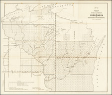 Minnesota and Wisconsin Map By General Land Office