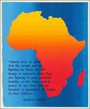 Africa and Pictorial Maps Map By Amilcar Cabral