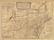 United States, Mid-Atlantic and Midwest Map By Robert Sayer / Thomas Jefferys / Lewis Evans