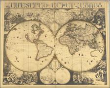 World Map By Adriaen Schoonebeek / Peter Schoonebeck
