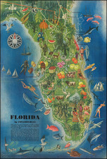 Florida and Pictorial Maps Map By Miguel Covarrubias