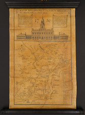 Pennsylvania and Philadelphia Map By Nicholas Scull  &  George Heap  &  Wagner & Guigan