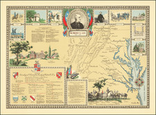 West Virginia, Virginia and Pictorial Maps Map By Karl Smith