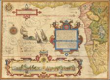 Atlantic Ocean, Africa, South Africa and West Africa Map By Jan Huygen Van Linschoten