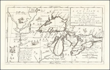Midwest, Illinois, Michigan, Minnesota, Wisconsin and Canada Map By Vincenzo Maria Coronelli