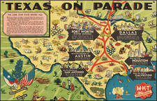 Texas and Pictorial Maps Map By MKT Katy Lines