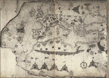 Europe and Mediterranean Map By Vesconte Maggiolo