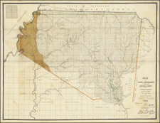 Alabama and Mississippi Map By Henry M. Lusher