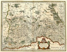 Europe and Germany Map By Willem Janszoon Blaeu