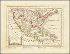 United States and Mexico Map By Fyodor Poznyakov  &  Konstantin Arsenyev  &  S.K. Frolov