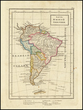 South America Map By Fyodor Poznyakov  &  Konstantin Arsenyev  &  S.K. Frolov