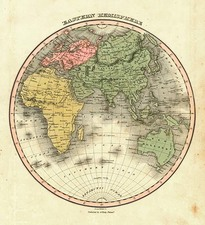 World and Eastern Hemisphere Map By Anthony Finley