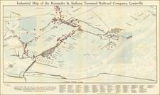 Kentucky Map By Bush-Krebs Company