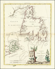 Canada and Eastern Canada Map By Antonio Zatta