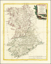 Ireland Map By Antonio Zatta