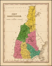 New England and New Hampshire Map By Anthony Finley