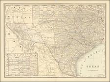 Texas Map By William Bradley