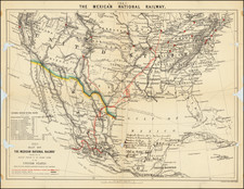 United States and Mexico Map By Edward Stanford