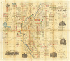 Colorado and Colorado Map By H.L. Thayer