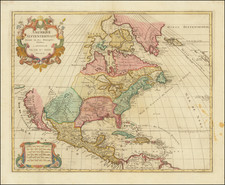 North America Map By Jan Barend Elwe