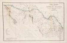 Texas, Arizona, New Mexico, California and Mexico Map By Augustin Diaz