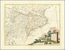 Spain Map By Antonio Zatta