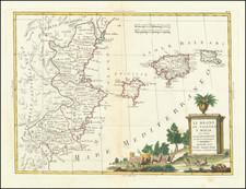Spain and Balearic Islands Map By Antonio Zatta
