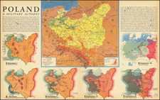 Poland and World War II Map By Fortune Magazine