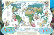 World and Pictorial Maps Map By National Geographic Society